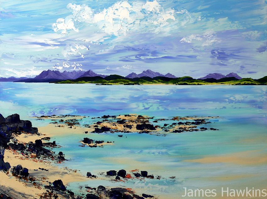 The Cuillins from Camusdarrach