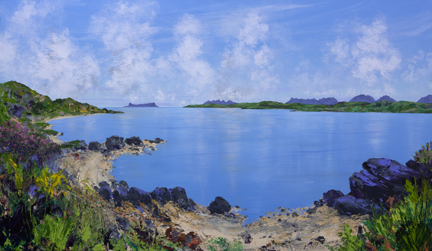 Eigg and the Sound of Sleat from Knoydart