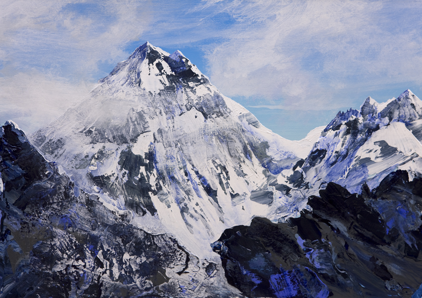 Everest from Scoundrels Point two