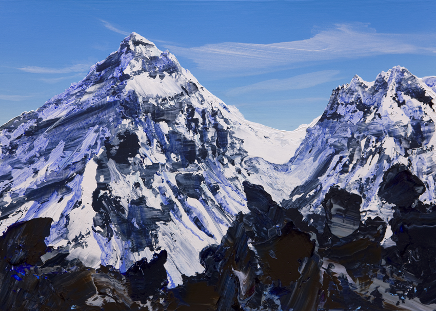 Everest from Scoundrels Point three