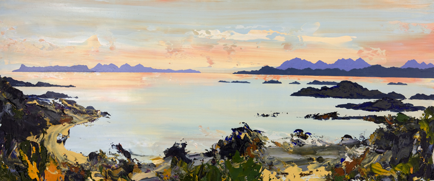 Rum, Eigg and Skye from Arisaig