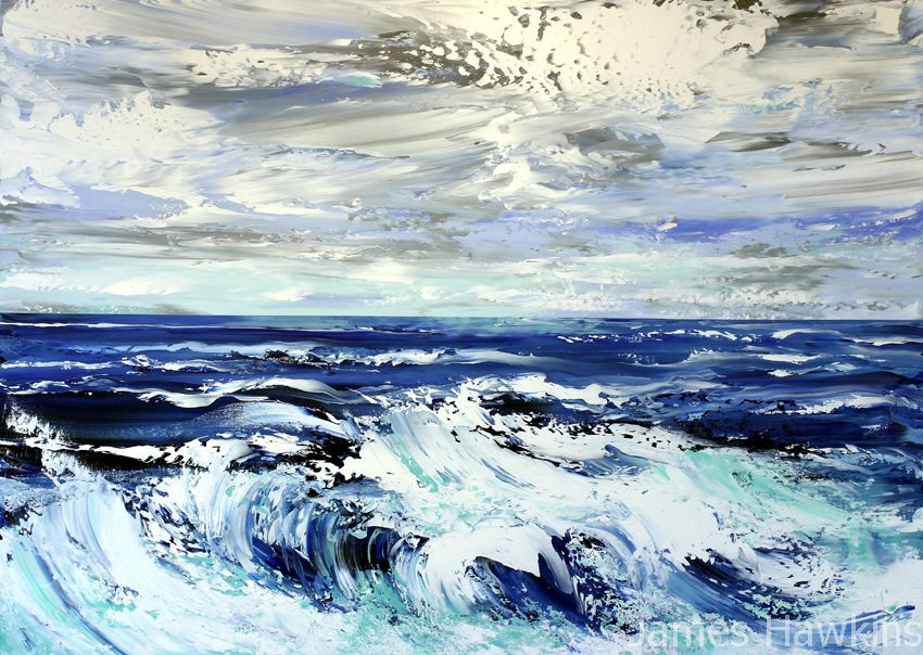 Stormy seas South Uist