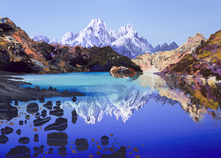 Early morning Gokyo Lake