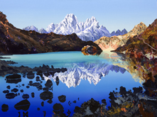 Phari Lapcha across Gokyo lake