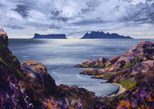 Rum and Eigg from Knoydart