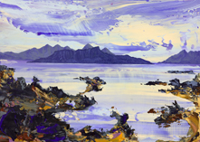 Rum and Eigg from Ockle